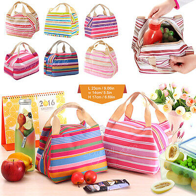 Thermal Portable Insulated Waterproof Cooler Lunch Box Picnic Tote Storage Bag
