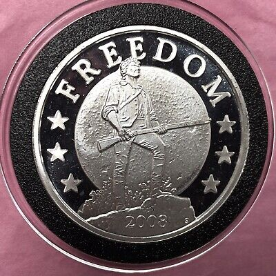 2008 Freedom Gold Is Money Collectible Coin 1 Troy Oz .999 Fine Silver Round 999