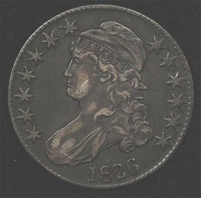 1826 Capped Bust Half:  attractive, well-struck XF+