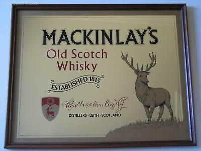 Vintage MacKinlay's 'Old Scotch Whisky' Bar / Pub Mirror. EXCELLENT!