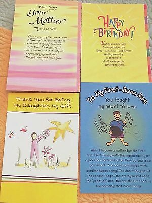 New Colorful Blue Mountain Arts Lot Of 4 Cards Mother Son Daughter