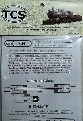 DCC Train Control Systems (TCS) CN, Classic 2 function, N scale decoder