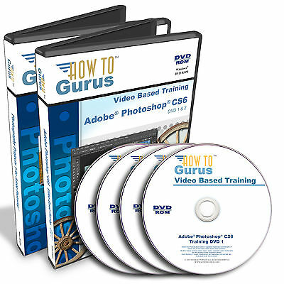 How To Gurus Photoshop CS6 training plus Photoshop Photography Projects 4 DVDs