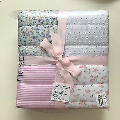 NWT Next Girls Vintage Patchwork Throw Blanket BedCover.Ditsy Floral Shabby Chic