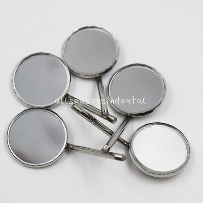 5 Pcs Dental Orthodontic Stainless Steel Mouth Mirrors #4 Plain Mirror 20mm