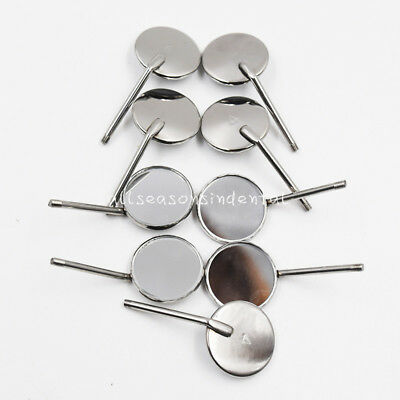 100 Pcs Dental Reflector Odontoscope Equipment Mouth Mirror #4 Stainless Steel