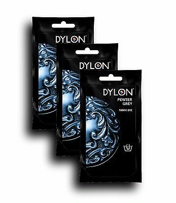 DYLON Pewter Grey Hand Fabric Dye 3 Pack