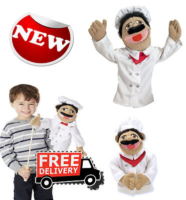 Melissa and Doug Chef Puppet With Detachable Wooden Rod for Animated Gestures