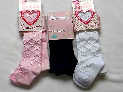 Baby Girl Patterned And Plain Coloured Tights