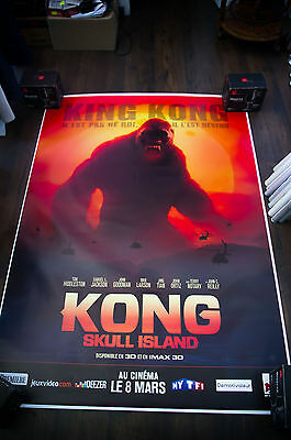 KONG SKULL ISLAND Style A 4x6 ft Bus Shelter D/S Movie Poster Original 2017