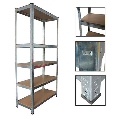 Panana Heavy Duty 5 Tier Boltless Garage Shelving Unit Storage Rack Metal UK