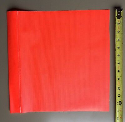 6 Safety Flag SF13 13 Inch  Vinyl Safety Flags, Red/Orange Traffic