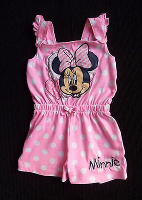 Childrens clothes GIRL 3-4 years Disney Minnie Mouse pink shorts all-in-one