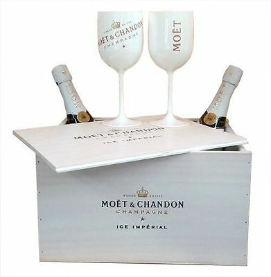 Moet Chandon Ice Imperial Champagne Glasses 2016 Goblets 6 Pack Double Sided NEW