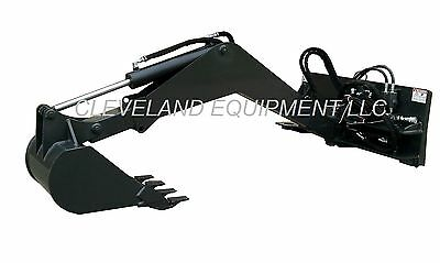 NEW SWING ARM BACKHOE ATTACHMENT Skid Steer Loader bobcat excavator bucket thumb