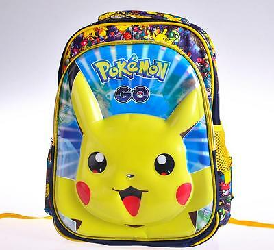 "16"" Pikachu Pokemon Kids Boys School Bag Children backpack Rucksack 40*31*15CM"