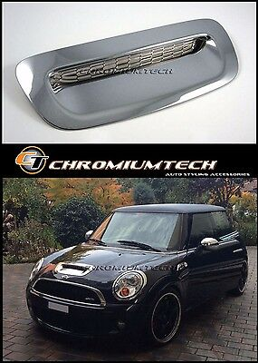 07-13 MINI Hatch Coupe Clubman Cooper S/SD CHROME Bonnet Air Intake Scoop Cover