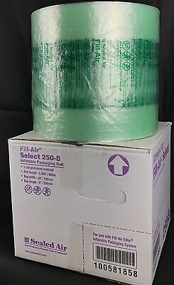 "Sealed Air 250-8 Fill-Air Select 10"" x 8"" Inflatable Packaging Roll 2900' Bubble"