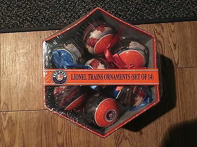 Classic Lionel Trains Boxed Set of 14 Christmas Ornaments Lightweight