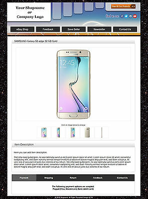 eBay Responsive Listing Template, eBay 2019 Policy Compliant. Easy editng! -12-