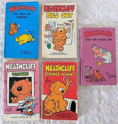 Heathcliff the Cat - Lot of 5 Vintage Comic Paperback Softcover Pocket Books