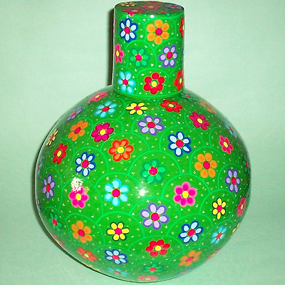 Decorated mud Jug vase + Cup