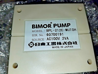 Bimor Piezoelectric Pump BPL-212E-MUTOH ...NEW