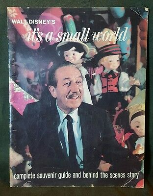 1964 Walt Disney It's A Small World Souvenir Guide and Behind the Scenes Story