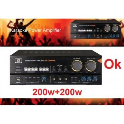 SUPER 200W x2 Professional KARAOKE/ AUDIO MIXING AMPLIFIER USB & BLUETOOTH