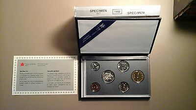 1992 Canada Specimen 6 Coin Set, Royal Canadian Mint w/ Case