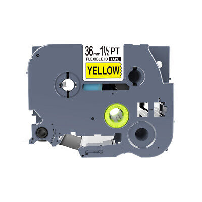 Compatible Brother Cabel Flexible Label Tape Tze-FX661 Black on Yellow 36mm * 8m