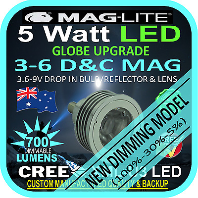 MAGLITE LED UPGRADE 3-6 CD BULB GLOBE for TORCH FLASHLIGHT 3.6-9V 700lm DIMMABLE