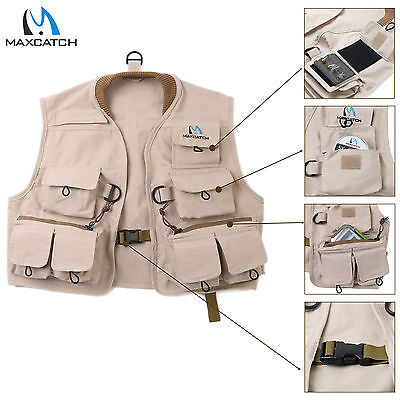 Maxcatch Kids Fly Fishing Youth Vest Multi-pocket Fishing Jacket Children size