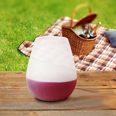 Silicone Wine Glass Portable Unbreakable Camping Out Stemless Beer Whiskey Cup
