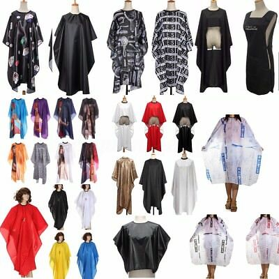 Pro Waterproof Barber Gown Cloth Hair Salon Cutting Hairdressing Cape Robe Adult