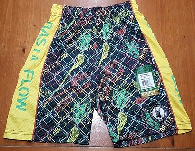 Flow Society Shorts RASTA FLOW Lacrosse Soccer Youth Kids SIZE XS Extra Small