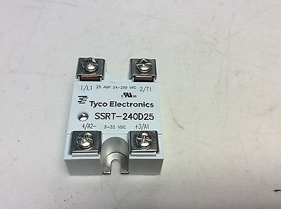 Tyco SSRT-240D25 Solid State Relay 3-32 VDC Input 24-280 VAC Contact SSRT240D25