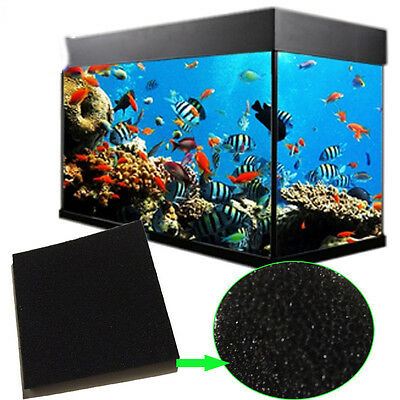 Black Biochemical Aquarium Fish Tank Pond Foam Sponge Filter Pad Mat 13*64cm