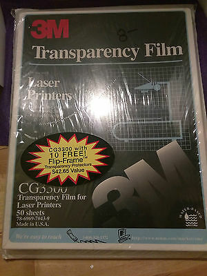Vtg 3M TRANSPARENCY FILM CG3300 (50)/ TRANSPARENCY PROTECTORS RS7110/10 (10) NEW