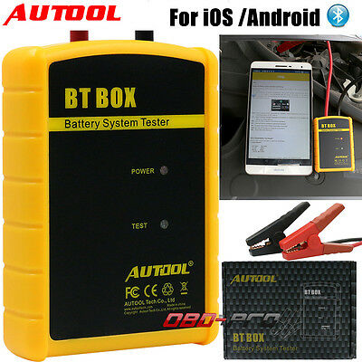 NEW AUTOOL BT BOX Car Battery System Tester Analyzer Bluetooth for iOS / Android