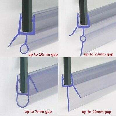 Bath Shower Screen Plastic Rubber Seal For 4-6mm Flat/Curved Glass Door Enclosur