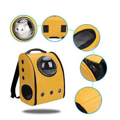 Portable Pet Bag Space Capsule Backpack Carrier Travel Bag Dog Cat Breathable