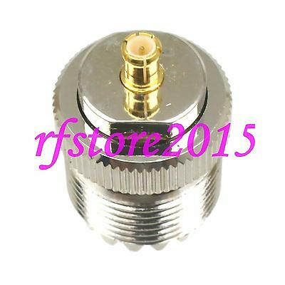 1pce Adapter Connector UHF SO239 female jack to MCX male plug for radio antenna