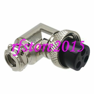 Aviation Connector GX16 16mm plug 3Pin 90° Socket for Panel Power Chassis Metal