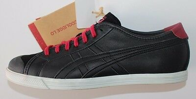 8695573d4a08 ASICS ONITSUKA TIGER COOLIDGE Leather BLACK SNEAKERS Vintage Trainers Shoes  38