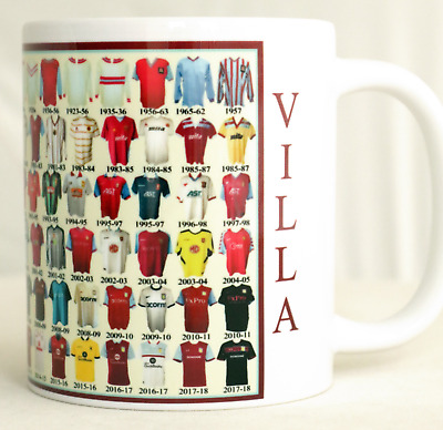 Aston Villa Mug Football shirt history New Gift