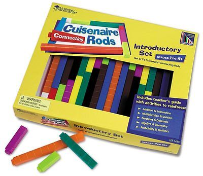 Learning Resources Cuisenaire Interlocking Mathematic Rods Set of 74 - NEW