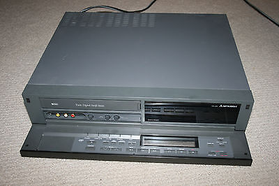 Vintage Heavy Duty RARE Mitsubishi HS-U65 VCR VHS Tape Player OEM Remote - AS IS