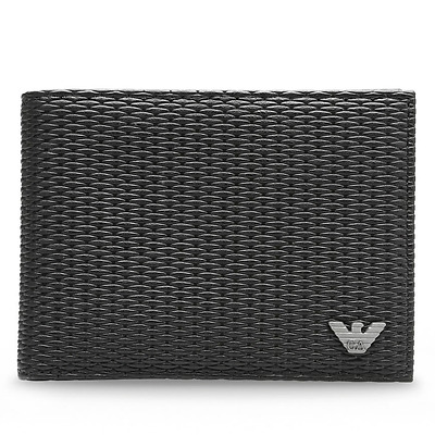 Armani Jeans Black Leather Wallet Leather