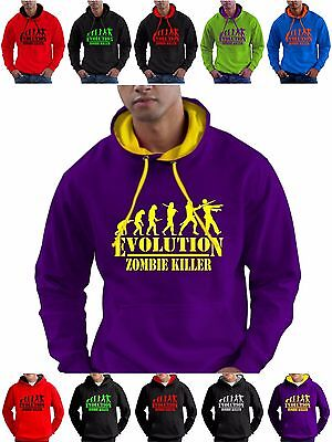 Zombie Killer Gamer Hoodie Sweatshirt Mens Boys for Any Age Kids Girls 14 Sizes